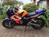 Honda CBR 125 RS, REPSOL colours, 2005, 9000 miles, long MOT
