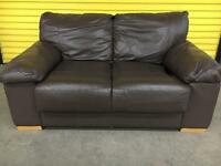 Leather 2 seater immaculate sofa •free delivery