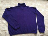100% cashmere jumper size L