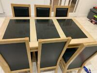 Granite Dining Table & 6 Chairs