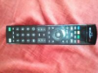 Remote control for TVonics freeview recorder set top box, model DTR HD500