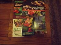 4 vegetable gardening books with DVD and 16 packets of seeds