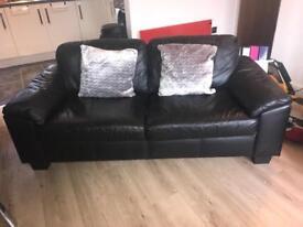 2 seater & 3 seater sofa plus table & lamp