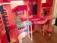 Barbie Malibu mansion, camper van, walking horse, car , boat and speedboat, excellent condition.