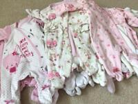Large bundle of baby girl baby grows (16 in total). Newborn (up to 7.5lbs)