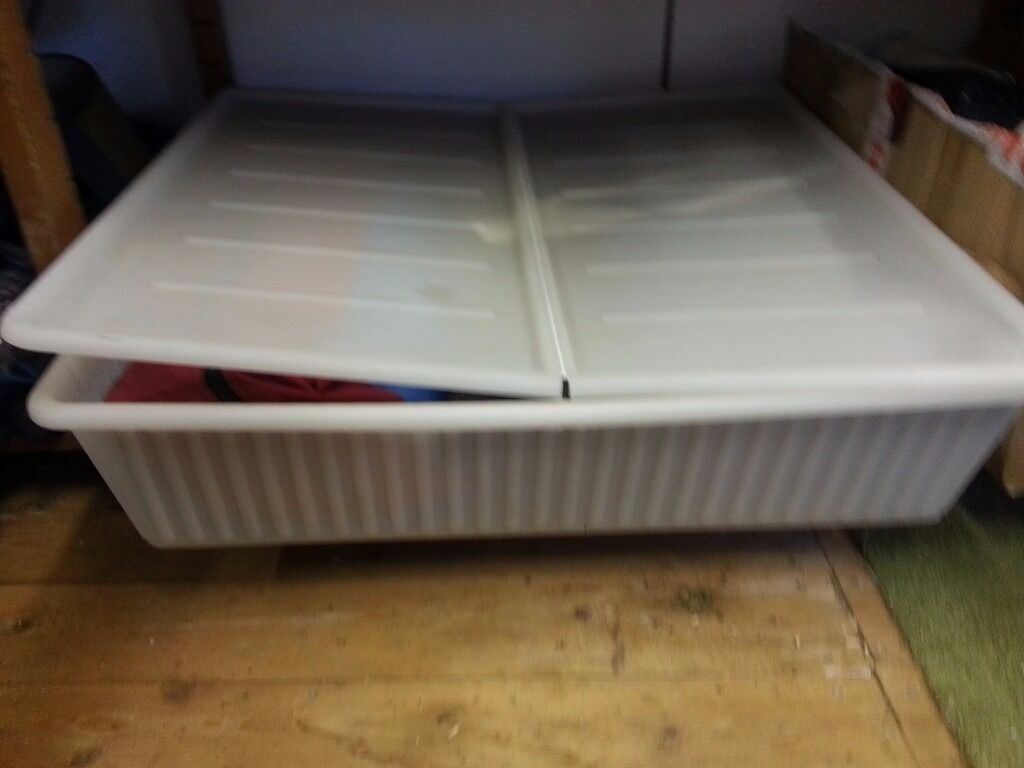 Large Underbed 100 Liter Plastic Storage Box Container