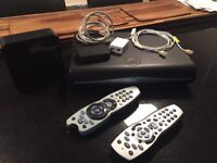 Sky box, Modem with all cables etc