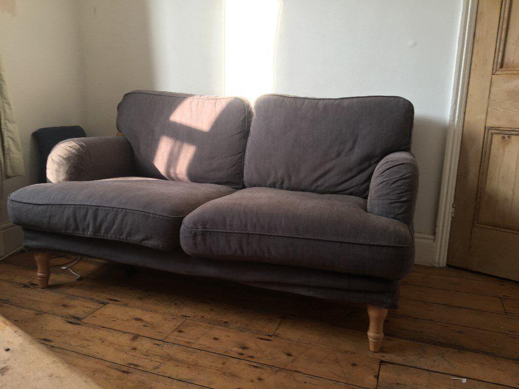 Ikea Stocksund 2 Seater Sofa Dark Grey In Easton