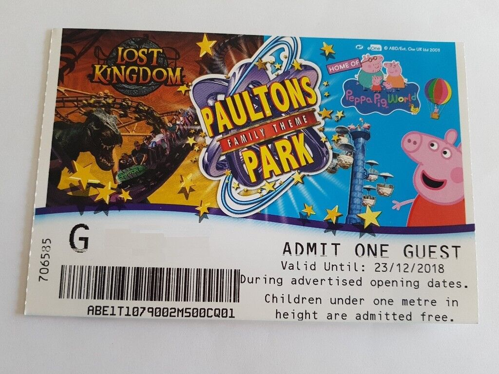 Paultons Park Peppa Pig World Entry Tickets In Sandwell West Midlands Gumtree
