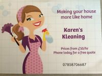 Karen's Kleaning: Domestic and small business cleans. Ironing service now available