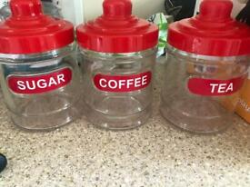 Tea coffee sugar set