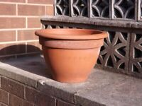 Large Terracotta Patio Plant Pot - height 11.5 inches