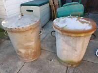 2 x metal bins