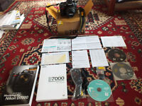 Nikon D7000 camera with original accessories and lens