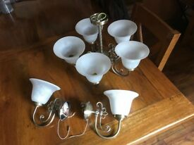 Light fittings used but in good condition £45 job lot buyer to collect