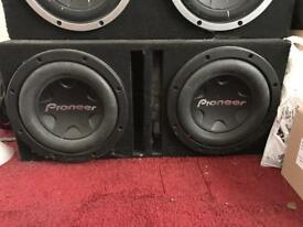 "6000W Sub 2x Pioneer 12"" Competition Subwoofers PRO series mono AMP not vibe mtx jbl Alpine"