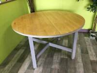 Extendable Circular Pine Dining Table - Can Deliver For £19