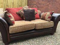 DFS Perez 2 Seater Sofa, Leather & Fabric
