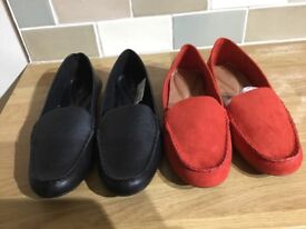 2 pairs brand new NEXT size 6 Moccassins worth £76