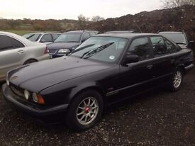 BREAKING BMW E34 525i auto face lift black, m50b25, for parts