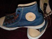 Converse Denim mens/ladies boots UK size 8