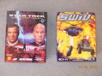 Star Trek and SWIV Box Sets PC CD Rom