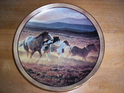 Blazing Spirits  by Nancy Glazier Horse Plate Wild & Free Series Wild Horses