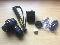 New* Nikon D3200 Dslr with 18-55mm lens (accessories and box included)