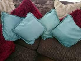 Green cushions x 4
