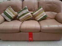 G Plan three piece leather suite
