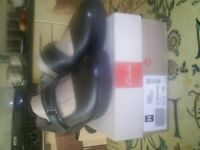 Clarks size 6.5 black girls/ladies flat shoes unworn and boxed.Collection only
