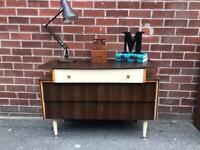 Vintage AVALON Teak Walnut Sideboard Drawers Mid Century Retro 60s 70s