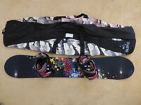 Kemper Snowboard (150cm), Bindings and Bag (Only used twice)