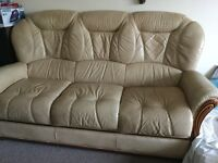 1 sofa and 2 armchairs (leather)