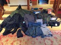 Outdoor Walking/DofE Kit. 3 ponchos, assorted clothing & lots more outdoor kit. Size medium.