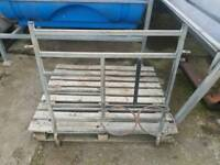 Calf rehearing pen fronts with bucket holders 18 available tractor