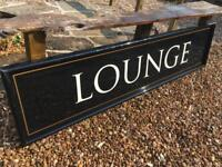 Large Lounge Bar Sign man cave, home pub, restaurant