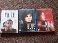 Three Colors Trilogy DVDs