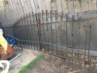 Double Iron driveway gates and 1 fence