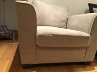 Single seater sofa (light grey)