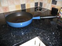 Le Creuset Blue large saute pan (used)