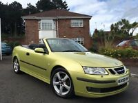 2003 SAAB 93 VECTOR 2.0 TURBO 175 BHP CONVERTIBLE ** FULL YEARS MOT ** ALL MAJOR CARDS ACCEPTED
