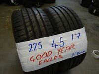 225 45 17s*215 45 17s *235 45 17s most brands AVAIL PAIRS SETS 6-7MM TREAD txt size for price & av
