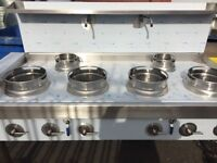 CHINESE WOK COOKER, NEW, 6 BURNER, NATURAL GAS OR LPG, CHOICE OF BURNERS, 4+2, £3000