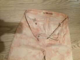 *BARGAIN* J BRAND marbled pink SKINNY LEG trousers 27