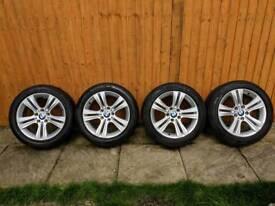 Set of 4 BMW 17 Alloy Wheels R/F Tyres 392 Style 3 4 Series F30 F31 F32 F33