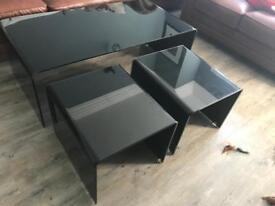 John Lewis Black Coffee Table Nest