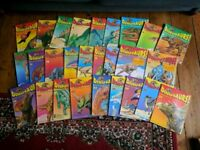 Collection of Dinosaurs magazines and trading cards