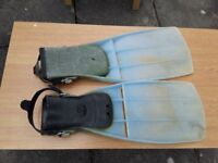 Jet fins for diving, used condition but fully functional. Large size. Available 9th of August.