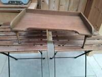 SOLID OAK EATING TRAY ON LEGS FOLDS UP IDEAL BED TABLE OR CHAIR SOFA EATING TV DINNER